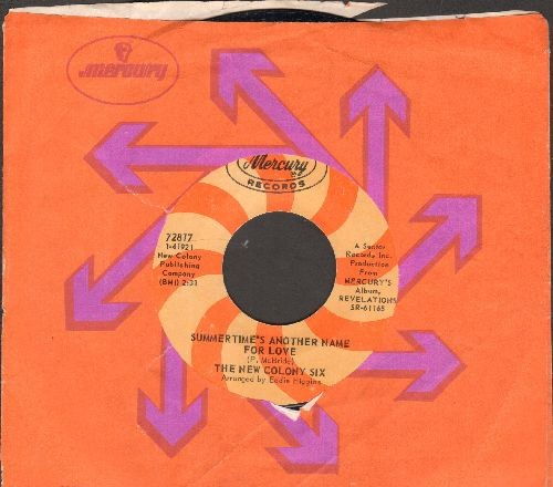 New Colony Six - Can't You See Me Cry/Summertime's Another Name For Love (with compny sleeve) - NM9/ - 45 rpm Records