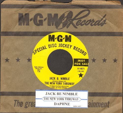 New York Thruway - Jack B. Nimble/Daphne (DJ advance pressing with MGM company sleeve and juke box label) - NM9/ - 45 rpm Records