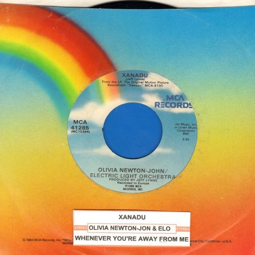 Newton-John, Olivia - Xanadu/Whenever You're Away From Me (with MCA company sleeve and juke box label) - NM9/ - 45 rpm Records
