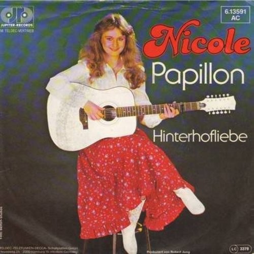 Nicole - Papillon/Hinterhofliebe (German Pressing with picture sleeve) - NM9/EX8 - 45 rpm Records