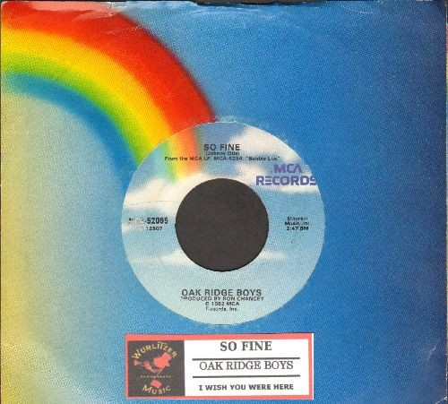 Oak Ridge Boys - So Fine/I Wish You Were Here (with MCA company sleeve and juke box label) - EX8/ - 45 rpm Records