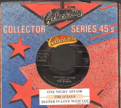 O'Jays - One Night Affair/Deeper In Love With You (double-hit re-issue with company sleeve and juke box label) - NM9/ - 45 rpm Records