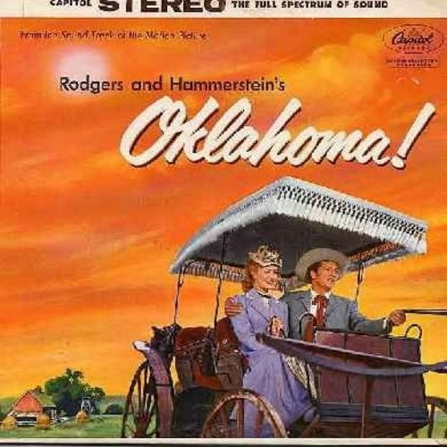 Oklahoma! - Oklahoma! - Original Motion Picture Sound Track, includes title song, Oh What A Beautiful Morning, Surrey With A Fringe On Top, I Cain't Say No, All Er Nothin', more! (Vinyl STEREO LP record, gate-fold cover, rainbow circle label) - NM9/NM9 -