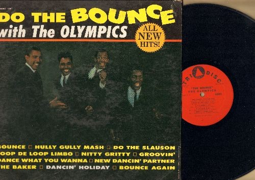 Olympics - Do The Bounce with The Olympics: Hully Gully Mash, Nitty Gritty, Groovin', Dancin' Holiday, The Baker (Vinyl MONO LP record) - VG7/VG7 - LP Records
