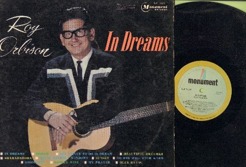 Orbison, Roy - In Dreams: Blue Bayou, All I Have To Do Is Dream, My Prayer, Beautiful Dreamer (vinyl STEREO LP record) - EX8/EX8 - LP Records