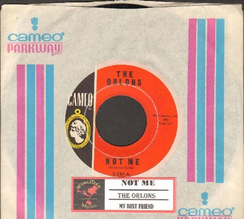 Orlons - Not Me/My Best Friend (with juke box label with RARE Cameo-Parkway company sleeve) - EX8/ - 45 rpm Records
