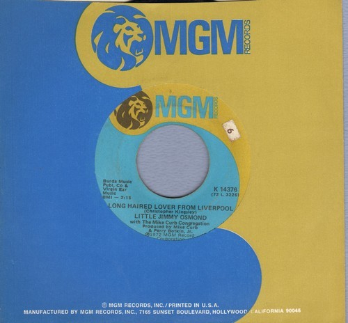 Osmond, Little Jimmy - Long Haired Lover From Liverpool/Mother Of Mine (with MGM company sleeve) - VG7/ - 45 rpm Records