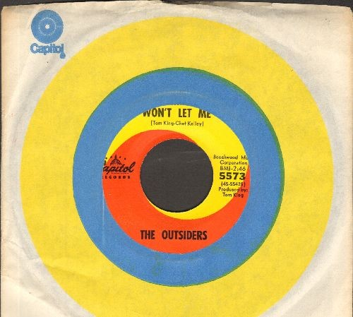 Outsiders - Time Won't Let Me/Was It Really Real (NICE condition with Capitol company sleeve) - EX8/ - 45 rpm Records