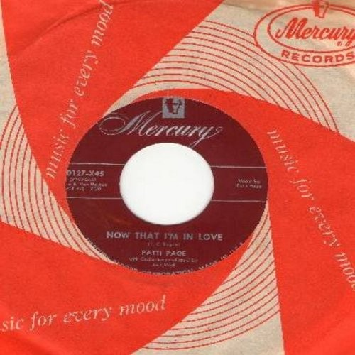 Page, Patti - Now That I'm In Love/Oo What You Do To Me (with vintage Mercury company sleeve) - EX8/ - 45 rpm Records
