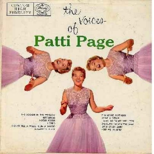 Page, Patti - The Voices Of Patti Page: The Doggie In The Window, Changing Partners, Hocus Pocus, I Can't Tell A Waltz From A Tango, Milwaukee Polka, I Love To Dance With You (Vinyl MONO LP record, 1955 first issue) - EX8/VG7 - LP Records