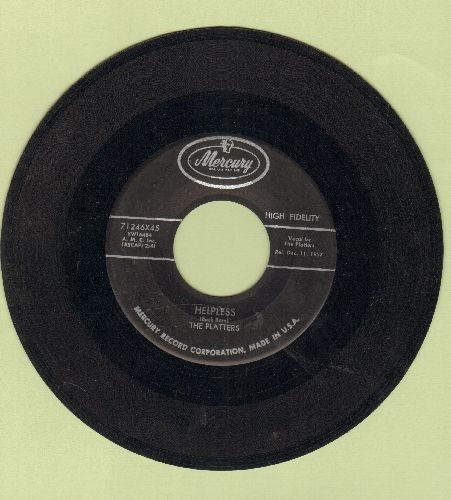 Platters - Helpless/Indiff'rent - EX8/ - 45 rpm Records