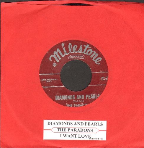 Paradons - Diamonds And Pearls/I Want Love (burgundy label first issue with juke box label) - VG6/ - 45 rpm Records