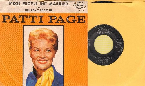 Page, Patti - You Don't Know Me/Most People Get Married (with picture sleeve) - NM9/VG7 - 45 rpm Records