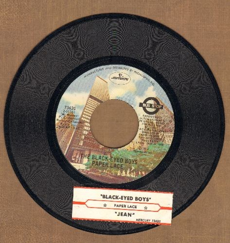 Paper Lace - Jean/The Black-Eyed Boys (with juke box label) - NM9/ - 45 rpm Records