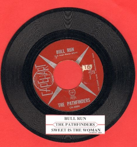 Pathfinders - Bull Run/Sweet Is The Woman (US Pioneer Era Folk two-sider) (with juke box label) - VG7/ - 45 rpm Records