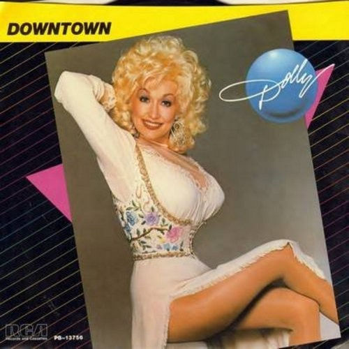 Parton, Dolly - Downtown/The Great Pretender (EXCELLENT updated versions of the Vintage Classics!) - NM9/NM9 - 45 rpm Records