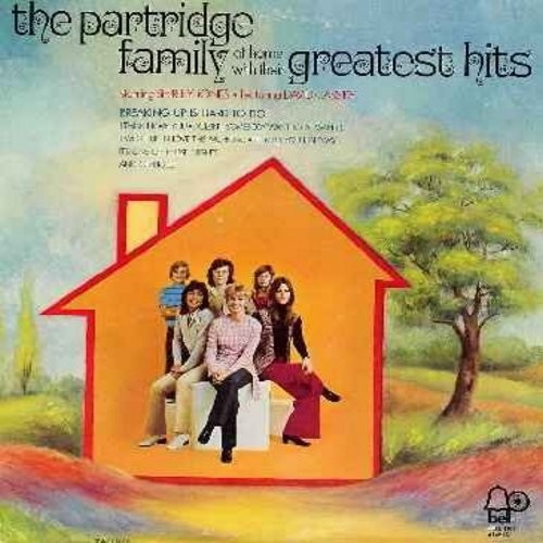 Partridge Family - At Home With Their Greatest Hits: Breaking Up Is Hard To Do, I Think I Love You, I Woke Up In Love This Morning, I'll Meet You Halfway, Doesn't Somebody Want To Be Wanted (Vinyl STEREO LP record) - VG7/VG7 - LP Records