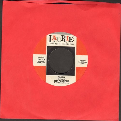 Passions - Gloria/Hushabye (by The Mystics on flip-side) (early authentic-looking re-issue) - EX8/ - 45 rpm Records