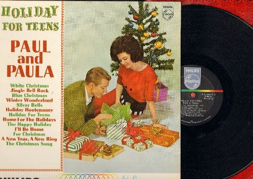 Paul & Paula - Holiday For Teens: Jingle Bell Rock, Winter Wonderland, Holiday Hootenanny, A New Year - A New Ring, Home For The Holidays, Blue Christmas (Vinyl MONO LP record) - VG7/VG7 - LP Records
