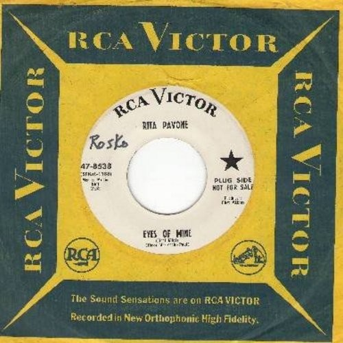 Pavone, Rita - Eyes Of Mine (Occi Mici)/I Don't Wanna Be Hurt (DJ advance copy with RCA company sleeve and juke box label) - NM9/ - 45 rpm Records