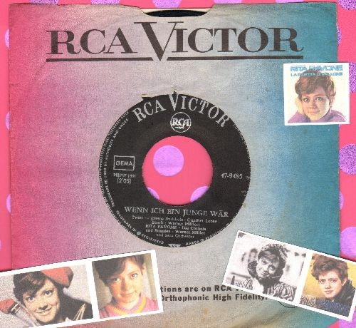 Pavone, Rita - Wenn ich ein Junge waer/Okay! Okay! (GERMAN Pressing with RCA company sleeve, sung in German) - VG7/ - 45 rpm Records