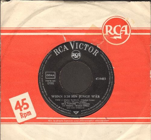 Pavone, Rita - Wenn ich ein Junge waer/Okay! Okay! (GERMAN Pressing with RCA company sleeve, sung in German) - EX8/ - 45 rpm Records