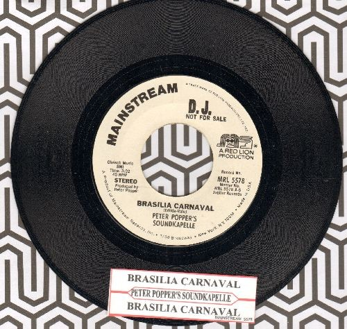 Popper, Peter Soundkapelle - Brasilia Carnaval (double-A-sided DJ advance pressing with juke box label) - NM9/ - 45 rpm Records