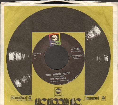 Persians - Too Much Pride/That's If You Want Me To (RARE R&B 2-sider, with ABC company sleeve) - NM9/ - 45 rpm Records
