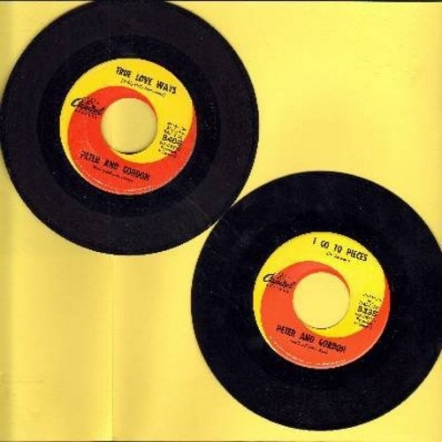 Peter & Gordon - 2 for 1 Special: I Go To Pieces/True Love Ways (2 vintage first issue 45rpm records for the price of 1!)(wol) - VG7/ - 45 rpm Records