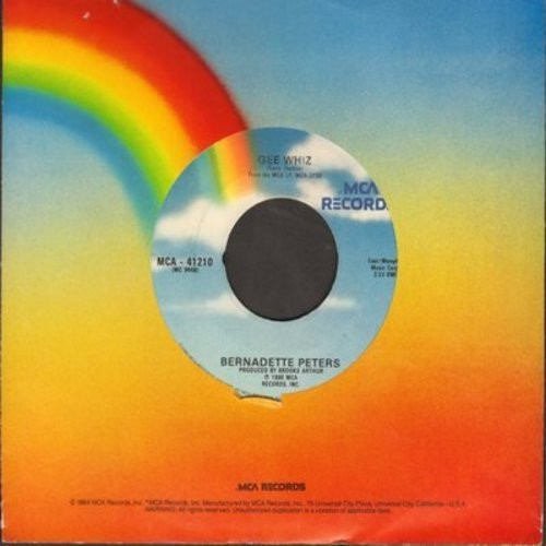 Peters, Bernadette - Gee Whiz (Look At His Eyes)/I Never Thought I'd Break (with MCA company sleeve) - EX8/ - 45 rpm Records
