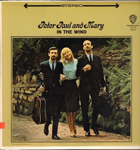 Peter, Paul & Mary - In The Wind: Blowin' In The Wind, Very Last Day, Polly Von, Stewball, Freight Train (Vinyl STEREO LP record) - EX8/EX8 - LP Records