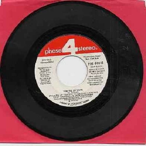 Klugman, Jack & Tony Randall - You're So Vain/When Banana Skins Are Falling (I'll Come Sliding Back To You) (HILARIOUS Parodies by TV's -Odd Couple-, DJ advance copy) - NM9/ - 45 rpm Records