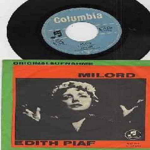 Piaf, Edith - Milord/Je sais comment (German Pressing with picture sleeve, sung in French) - EX8/EX8 - 45 rpm Records