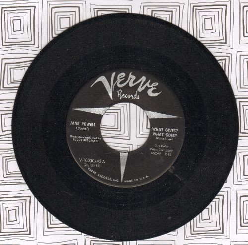 Powell, Jane - What Gives? What Goes?/Till The Next Time - M10/ - 45 rpm Records