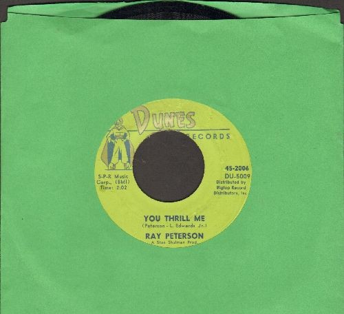 Peterson, Ray - You Thrill Me (FANTASTIC 50's Teen Idol Sound!)/Missing You - EX8/ - 45 rpm Records