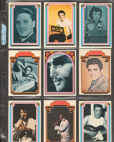 Collectors Sheet Of 9 Elvis Presley Trading Cards Great Gift For A