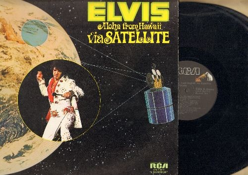 Presley Elvis Aloha From Hawaii Via Satellite Black Label Later Issue Of Double