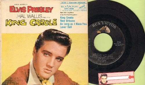 Presley, Elvis - King Creole/New Orleans/Lover Doll/As Long As I Have You (vinyl EP record with picture cover) - EX8/VG7 - 45 rpm Records