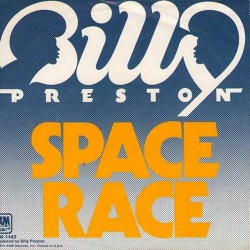 Preston, Billy - We're Gonna Make It/Space Race (with picture sleeve) - M10/EX8 - 45 rpm Records