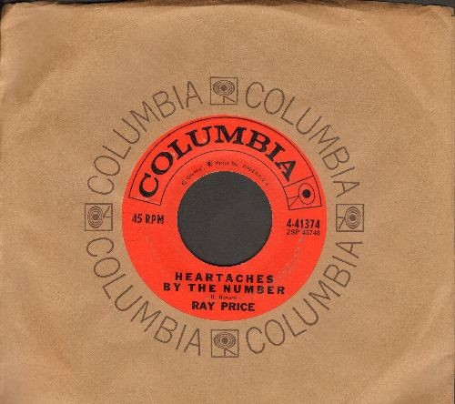 Price, Ray - Heartaches By The Number/Wall of tears (with Columbia company sleeve) - EX8/ - 45 rpm Records
