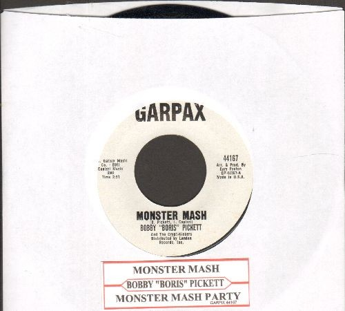 Pickett, Bobby (Boris) - Monster Mash/Monster's Mash Party (White Garpax Label first issue, NICE condition!) - NM9/ - 45 rpm Records