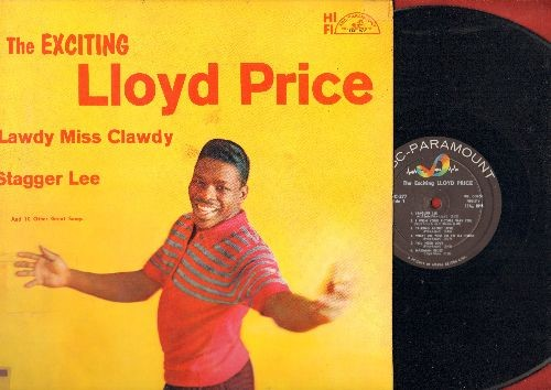 Price, Lloyd - The Exciting Lloyd Price: Lawdy Miss Clawdy, Stagger Lee, Where Were You (On Our Wedding Day)?, Mailman Blues, Just Because (vinyl MONO LP record, DJ advance pressing) - NM9/VG7 - LP Records