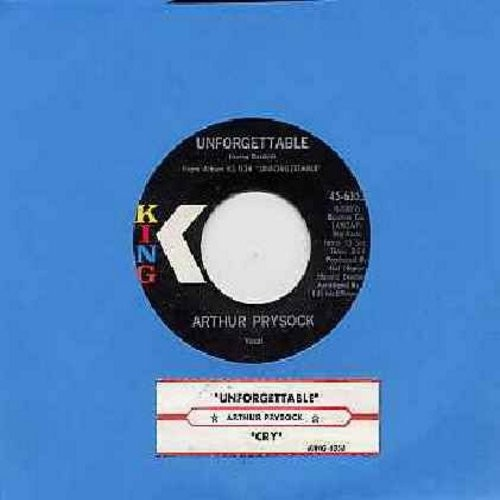 Prysock, Arthur - Unforgettable/Cry (with juke box label) - NM9/ - 45 rpm Records