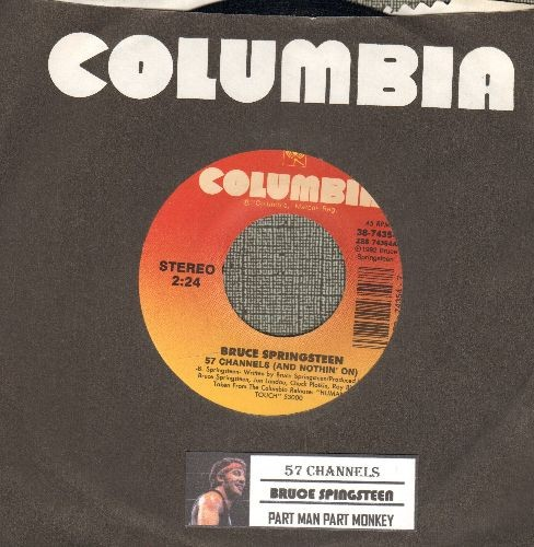 Springsteen, Bruce - 57 Channels (And Nothin' On)/Part Man Part Monkey (with juke box label) - NM9/ - 45 rpm Records
