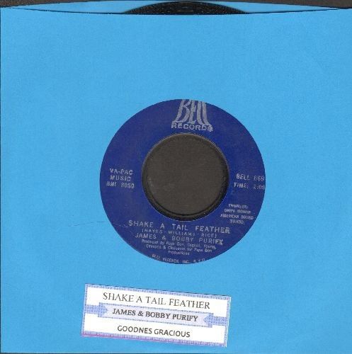 Purify, James & Bobby - Shake A Tail Feather/Goodness Gracious (with juke box label)(bb) - EX8/ - 45 rpm Records