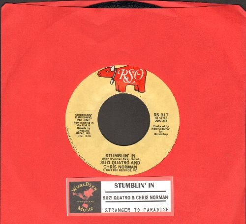 Quatro, Suzi & Chris Norman - Stumblin' In (BEAUTIFUL TOP CHARTING LOVE BALLAD!)/A Stranger In Paradise (with juke box label) - EX8/ - 45 rpm Records