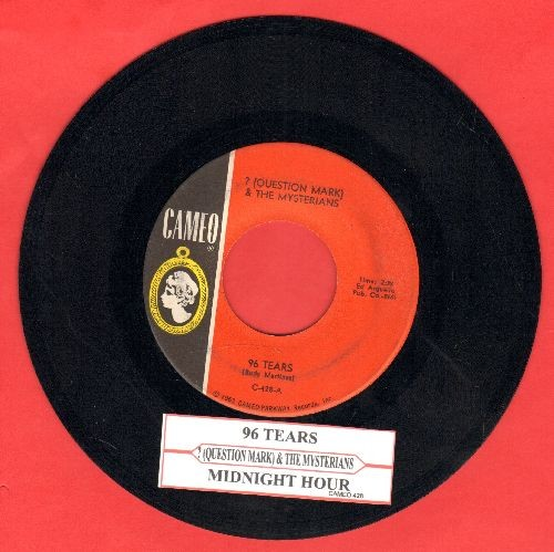 Question Mark & The Mysterians - 96 Tears/Midnight Hour (with juke box label) - NM9/ - 45 rpm Records