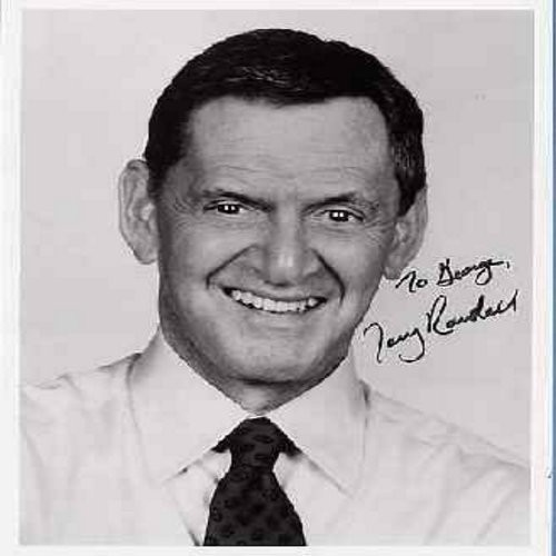 Randall, Tony - Personalized Autograph by Tony Randall, signed -To George, Tony Randall-  8 X 10 b&w Photo shows the Comedian ca. 1980s. Best known as Felix Unger on TV's The Odd Couple, as well as various 1950s & 60s Hollywood Comedies like -Pillow Talk-