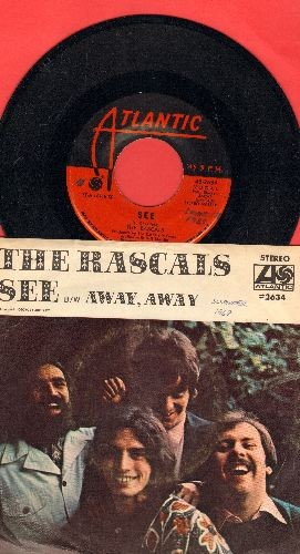 Rascals - See/Away Away (with picture  sleeve) - NM9/EX8 - 45 rpm Records