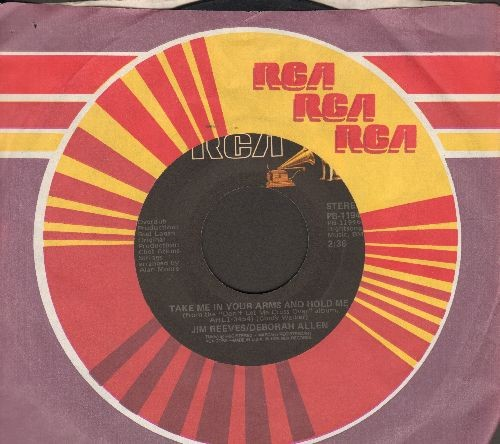 Reeves, Jim & Deborah Allen - Take Me In Your Arms And Hold Me/Missing Angel (re-issue with RCA company sleeve) - EX8/ - 45 rpm Records